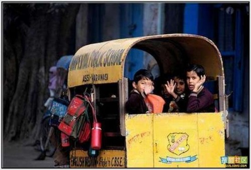 Ĺkolski autobus Indija 14