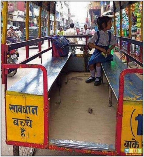 Ĺkolski autobus Indija 20