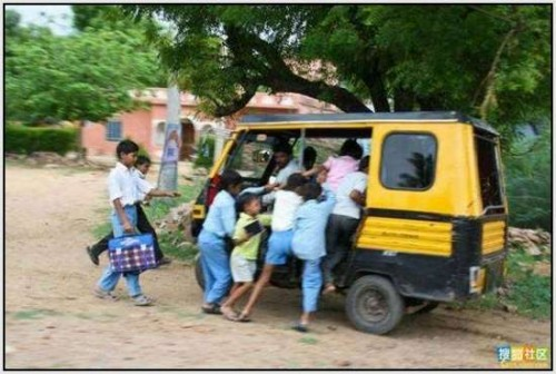 Ĺkolski autobus Indija 27