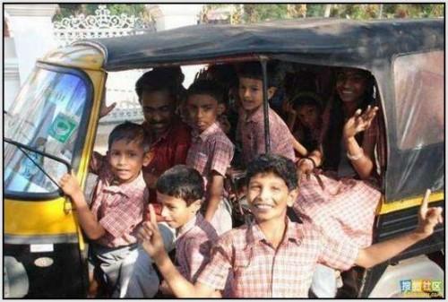 Ĺkolski autobus Indija 31