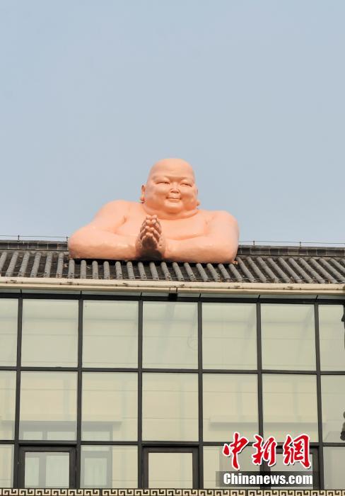 Naked Buddha sculpture in Jinan, China