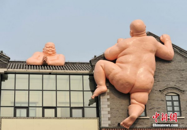 Naked Buddha sculpture in Jinan, China