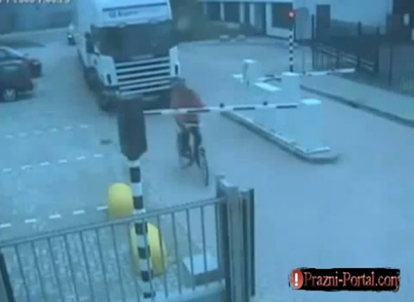Cyclist crashes ramp